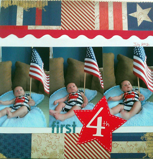 first fourth scrapbooking layout